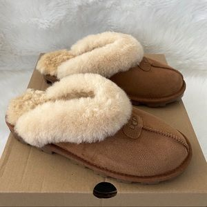 New without box UGG Coquette Slippers Chestnut 8